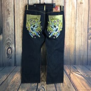 Ed Hardy Jeans - ☮️EUC ED Hardy Skull encrusted Relaxed jean 42